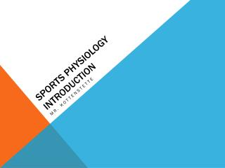 Sports Physiology Introduction