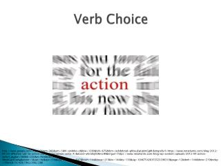 Verb Choice