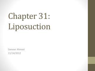 Chapter 31: Liposuction