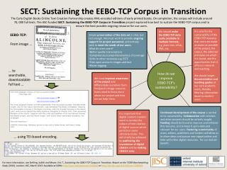 SECT: Sustaining the EEBO-TCP Corpus in Transition