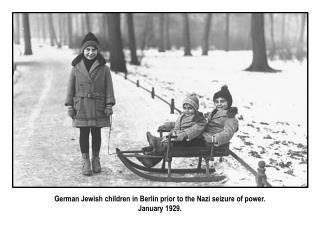 German Jewish children in Berlin prior to the Nazi seizure of power. January 1929.