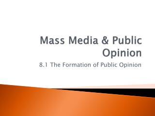Mass Media & Public Opinion