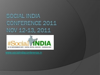 Social India Conference 2011 about Social Media & Networking