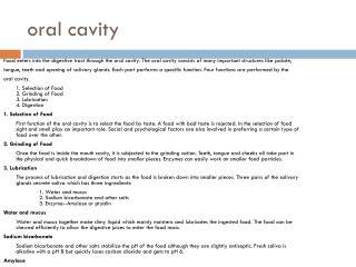 o ral cavity
