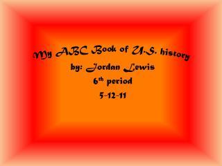 My ABC Book of U.S. history