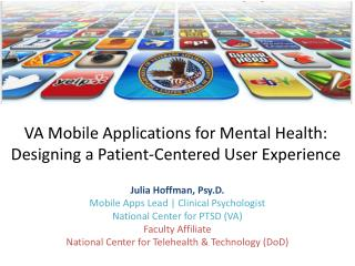 VA Mobile Applications for Mental Health: Designing a Patient-Centered User Experience