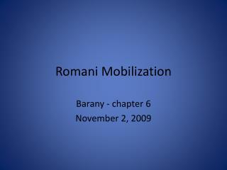 Romani Mobilization