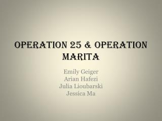 Operation 25 & Operation  Marita