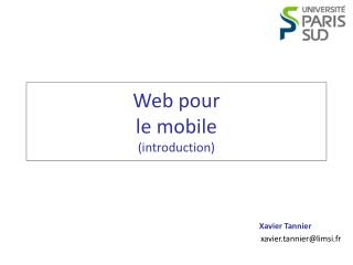 Web pour le mobile (introduction)
