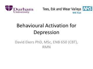 Behavioural Activation for Depression