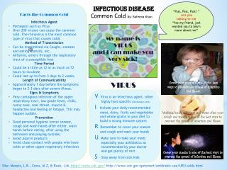 Infectious Disease Common Cold  By:  Rafeena  Khan