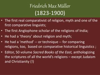 Friedrich Max  Müller (1823-1900)