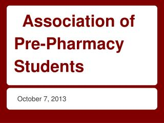 Association of Pre-Pharmacy Students