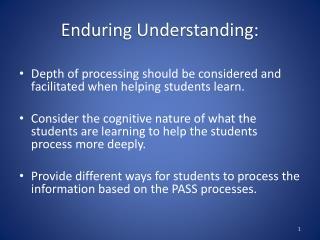 Enduring Understanding: