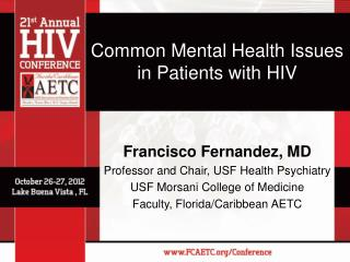 Common Mental Health Issues  in Patients with HIV