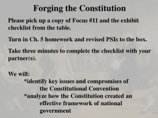 Forging the Constitution