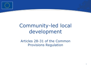 A strategic approach to  Community Development