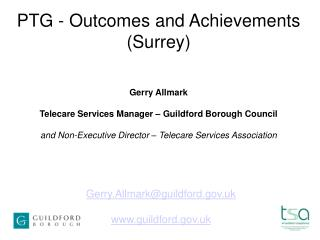 PTG - Outcomes and Achievements Surrey
