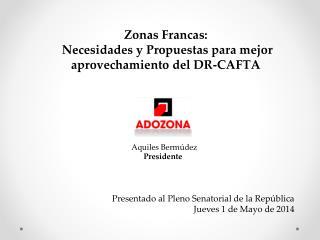 Presentado al Pleno Senatorial de la República  Jueves 1 de Mayo de 2014