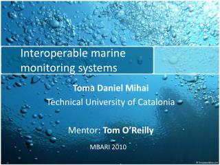 Interoperable marine monitoring systems