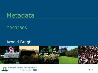 Metadata GRS32806