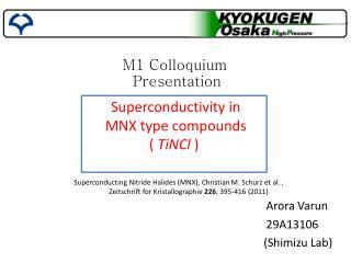 M1 Colloquium  Presentation