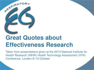 Great Quotes about Effectiveness Research