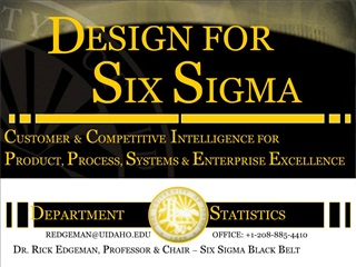 CUSTOMER  COMPETITIVE INTELLIGENCE FOR PRODUCT, PROCESS, SYSTEMS  ENTERPRISE EXCELLENCE