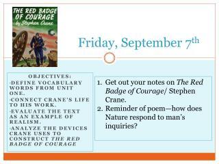 Friday, September 7 th