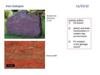 Iron Isotopes 11/ 15/ 12