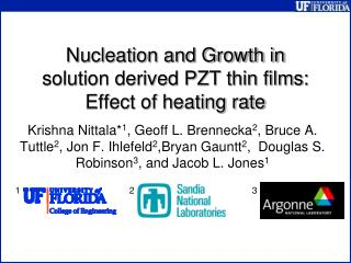 Nucleation and Growth in solution derived PZT thin films: Effect of heating rate