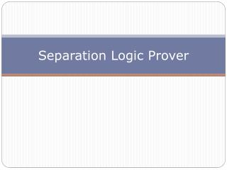 Separation Logic  Prover