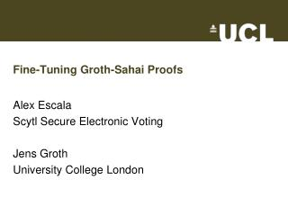 Fine-Tuning Groth-Sahai Proofs