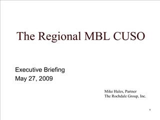 The Regional MBL CUSO
