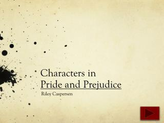Characters in  Pride and Prejudice