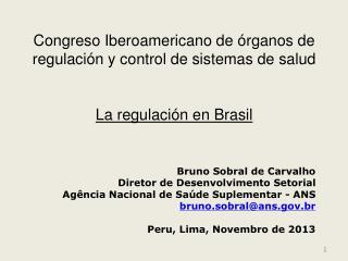 Bruno Sobral de Carvalho Diretor de Desenvolvimento Setorial
