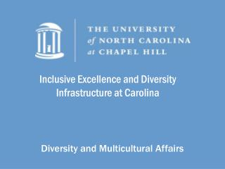 Inclusive Excellence and Diversity Infrastructure  at  Carolina