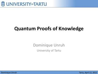 Quantum Proofs of Knowledge