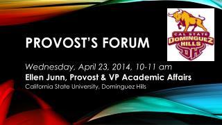 Provost's Forum