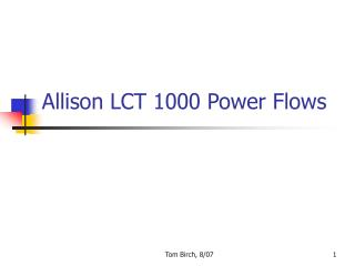 Allison LCT 1000 Power Flows