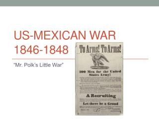 US-Mexican War 1846-1848