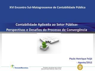 Contabilidade Aplicada ao Setor  Público: Perspectivas e Desafios do Processo de Convergência
