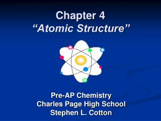 "Chapter 4 ""Atomic Structure"""