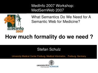 How much formality do we need ?