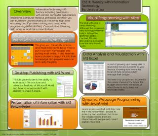 CSE 3: Fluency with Information Technology  By: Jessica  Luu