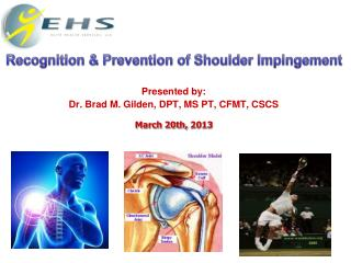 Presented by: Dr. Brad M. Gilden, DPT, MS PT, CFMT, CSCS