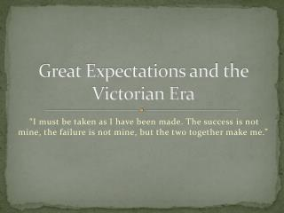 Great Expectations and the Victorian Era