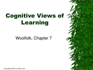 Cognitive Views of Learning