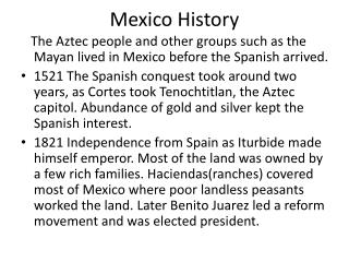 Mexico History