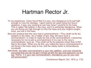 Hartman Rector Jr.
